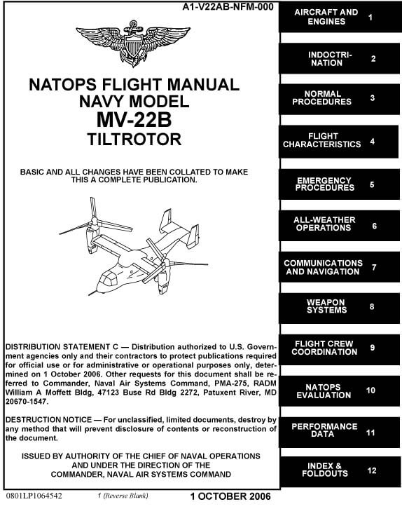 bell boeing v 22 osprey flight manuals rh flight manuals online com mv 22b natops flight manual Aircraft Refueling NATOPS Manual