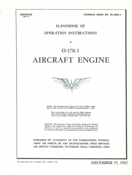 Flight Manual for the Aeronca L-3