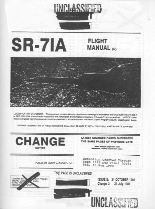 Flight Manual for the Lockheed SR-71 Blackbird