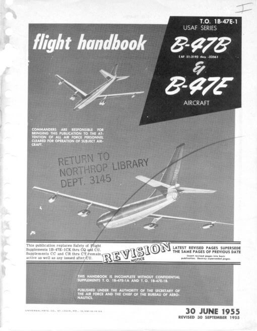 Flight Manual for the Boeing B-47 Stratojet