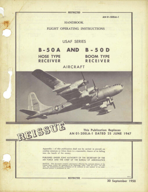 Flight Manual for the Boeing B-50 Superfortress