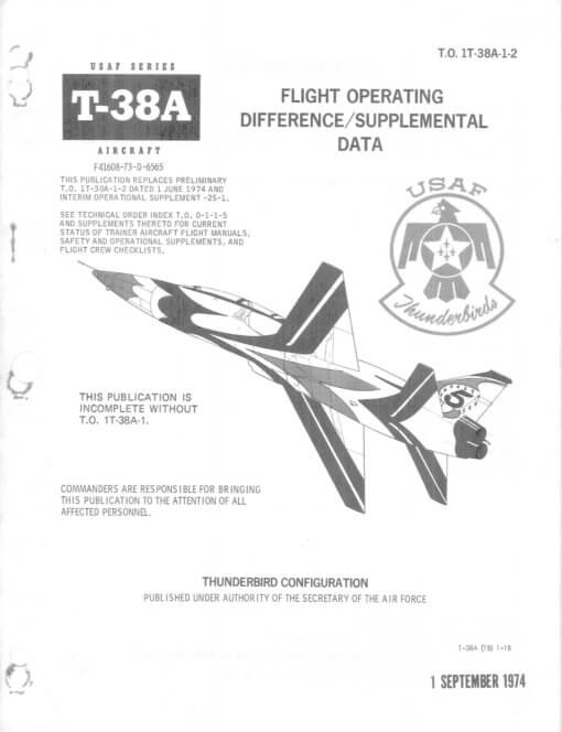 Flight Manual for the Northrop T-38 Talon