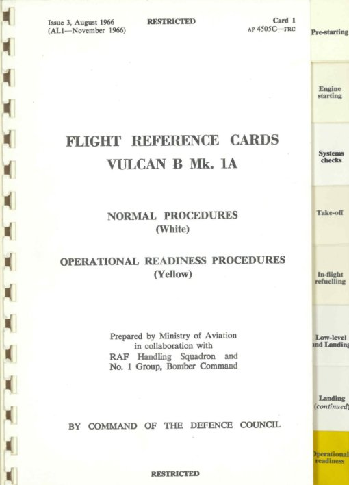 Flight Manual for the Avro 698 Vulcan