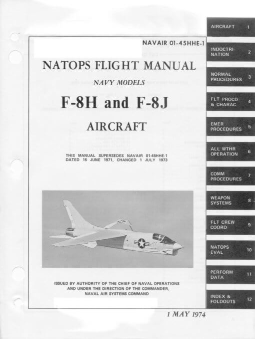 Flight Manual for the Chance Vought F-8 Crusader