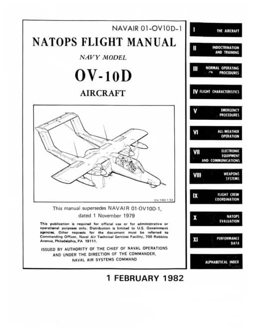 Flight Manual for the North American OV-10 Bronco