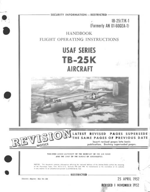 Flight Manual for the North American B-25 Mitchell