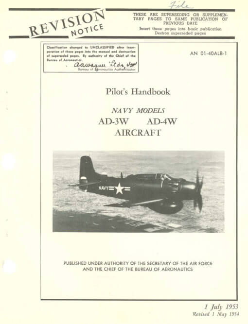 Flight Manual for the Douglas AD Skyraider