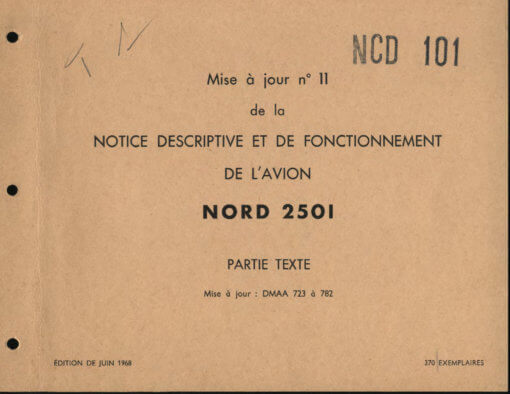 Flight Manual for the Nord 2501 Noratlas