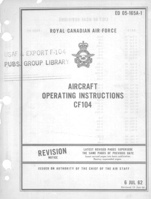 Flight Manual for the Lockheed F-104 Starfighter