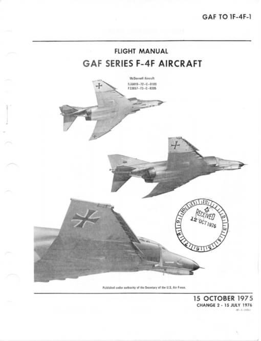 Flight Manual for the McDonnell-Douglas F-4 Phantom II
