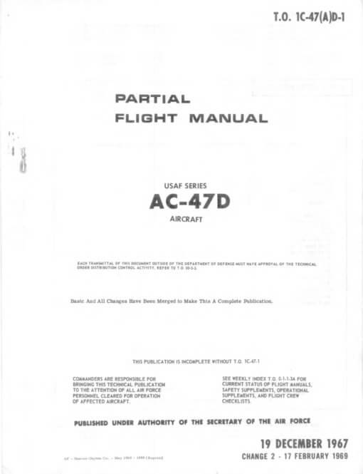 Flight Manual for the Douglas DC-3 C-47 Dakota
