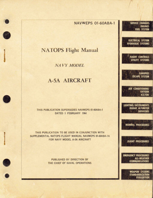 Flight Manual for the North American A-5 Vigilante