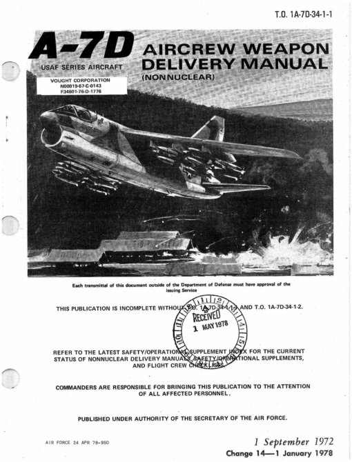 Flight Manual for the Vought A-7 Corsair II