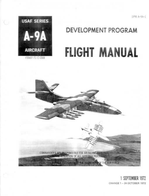 Flight Manual for the Northrop A-9A