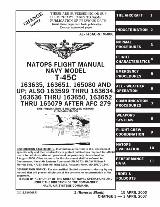 Flight Manual for the McDonnell-Douglas T-45 Goshawk