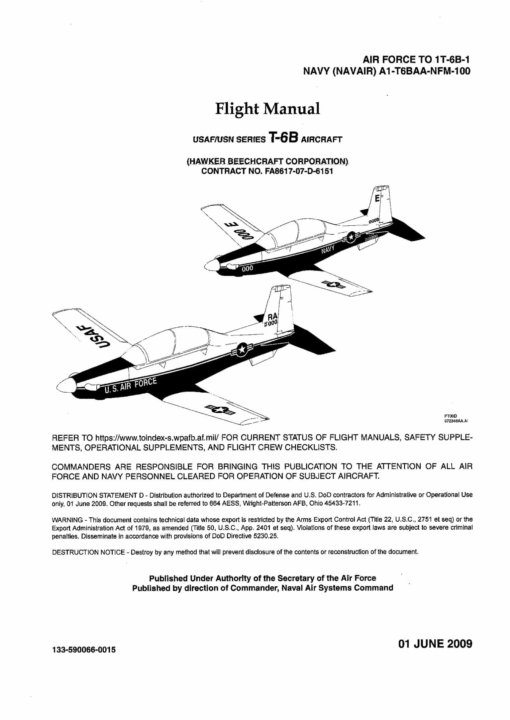 Flight Manual for the Beechcraft T-6 Texan II