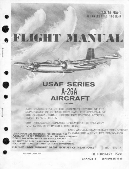 Flight Manual for the Douglas A-26 Invader
