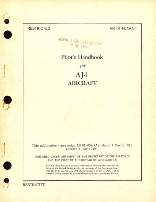 Flight Manual for the North American AJ Savage