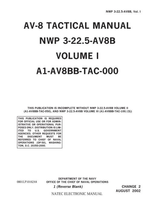 Flight Manual for the McDonnell-Douglas AV-8B Harrier II
