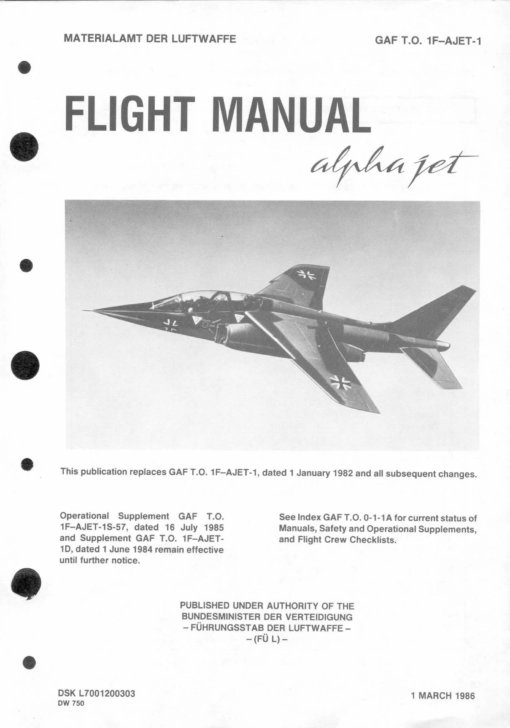 Flight Manual for the Alpha Jet
