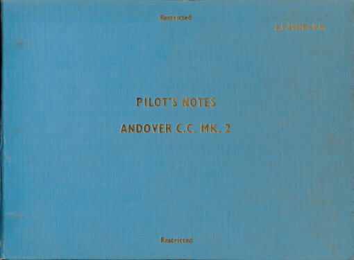 Flight Manual for the Avro 748 and Andover