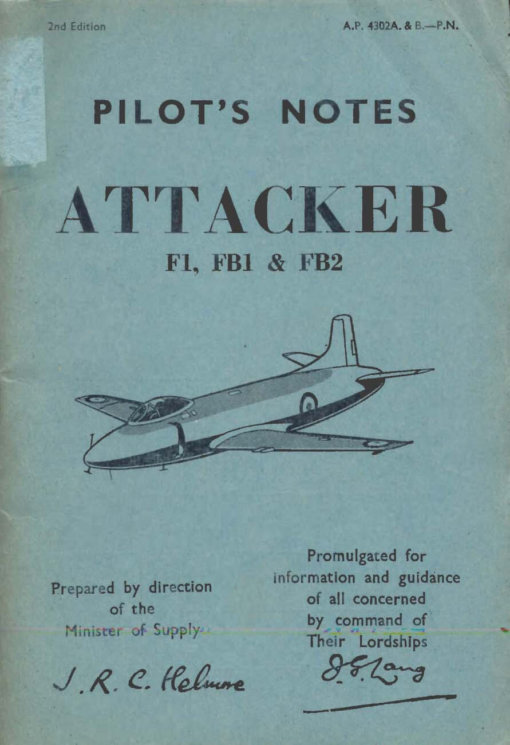 Flight Manual for the Supermarine Attacker