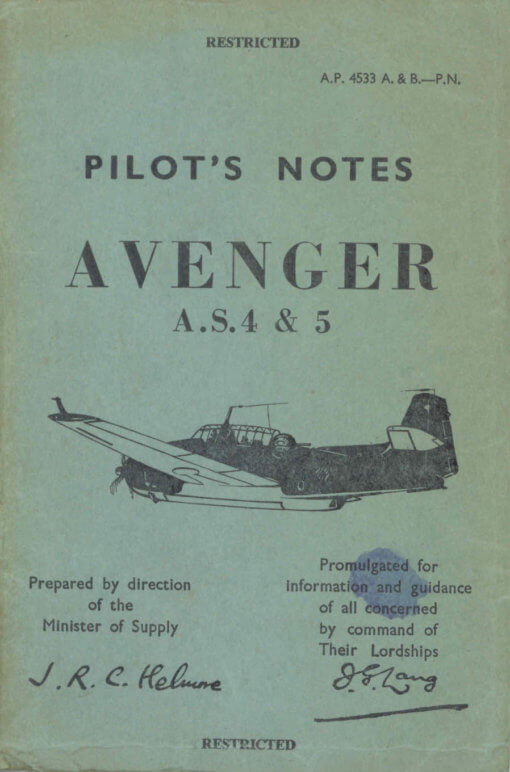 Flight Manual for the Grumman TBF TBM Avenger