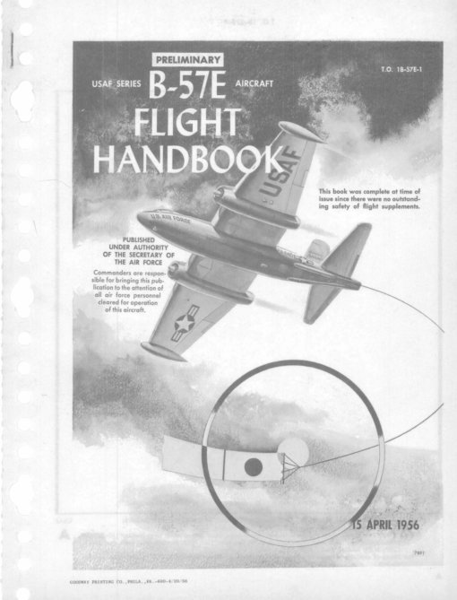 Flight Manual for the Martin B-57 Canberra