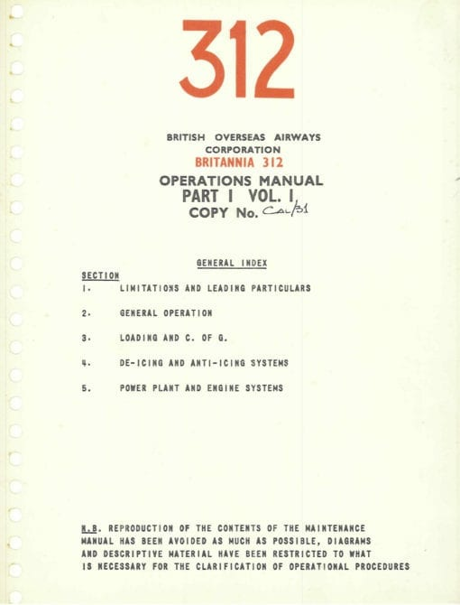 Flight Manual for the Bristol Britannia