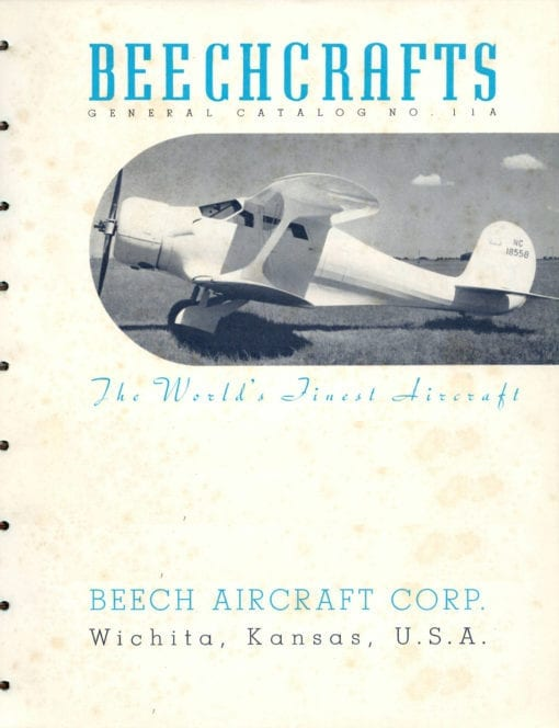 Flight Manual for the Beechcraft Model 17 UC-43 Staggerwing