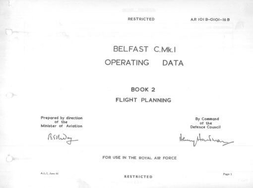 Flight Manual for the Short SC5 Belfast