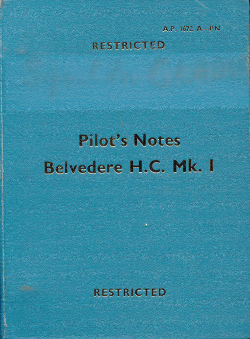 Flight Manual for the Bristol Belvedere