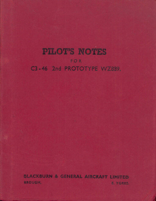 Flight Manual for the Blackburn Beverley