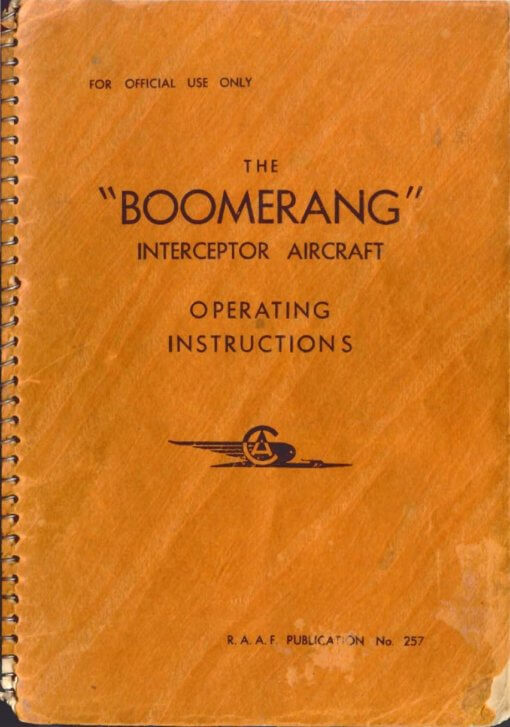 Flight Manual for the Commonwealth Boomerang