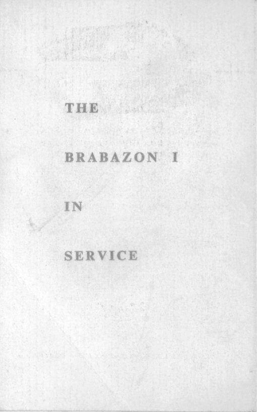 Flight Manual for the Bristol 167 Brabrazon