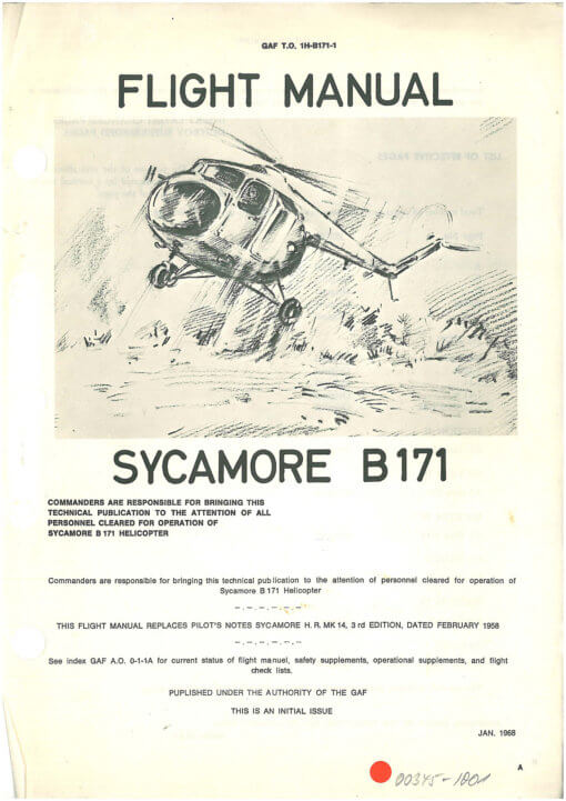 Flight Manual for the Bristol 171 Sycamore