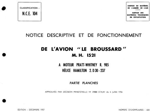 Flight Manual for the Max Holste MH1521 Broussard