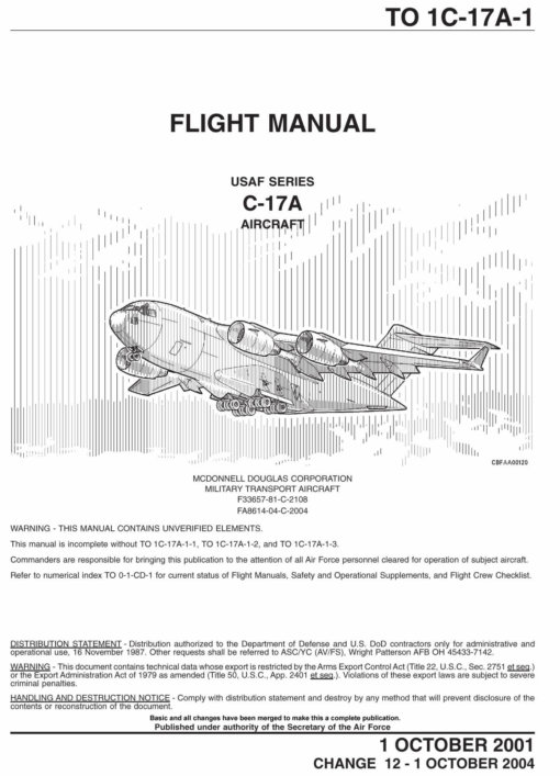 Flight Manual for the Boeing C-17 Globemaster III