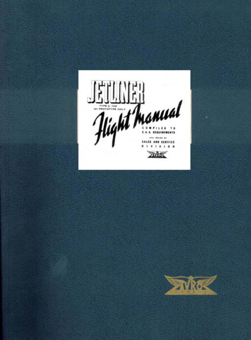 Flight Manual for the Avro Canada C.102 Jetliner