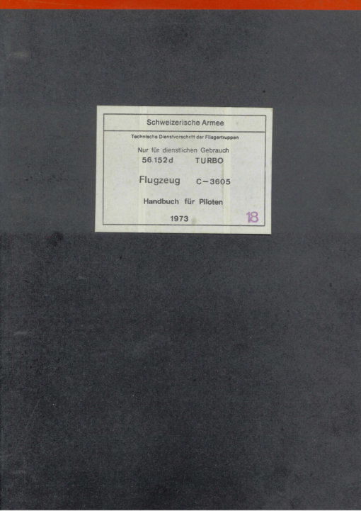 Flight Manual for the EKW C-3605
