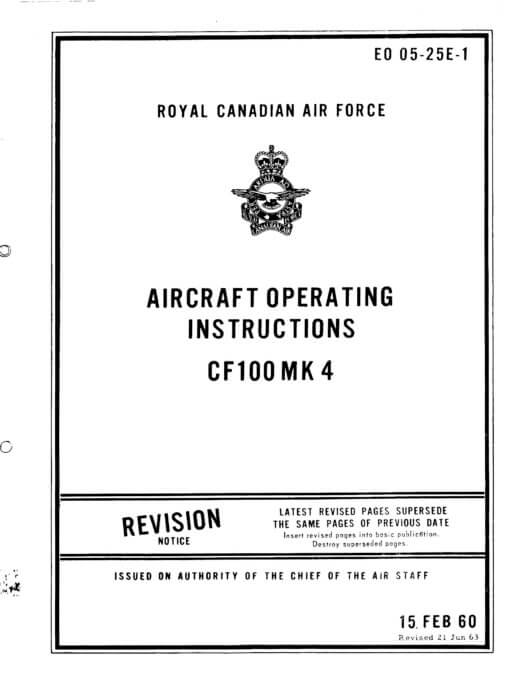Flight Manual for the Avro Canada CF-100 Canuck