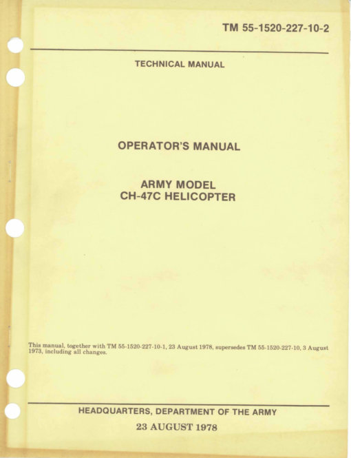 Flight Manual for the Boeing Vertol CH-47 Chinook