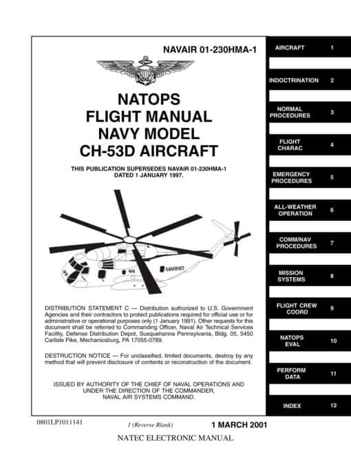 Flight Manual for the Sikorsky H-53 Sea Stallion
