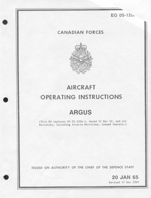 Flight Manual for the Canadair CL-28 Argus CP-107