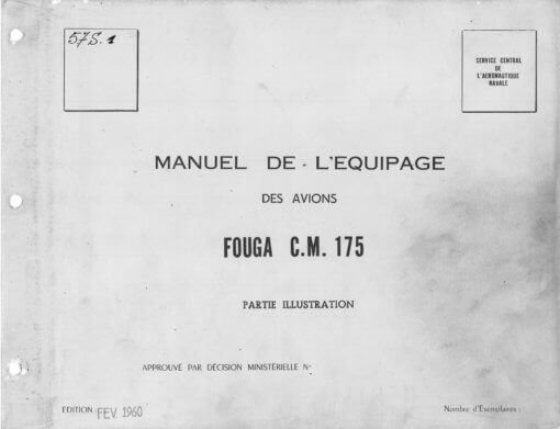 Flight Manual for the Potez Air Fouga CM175 Zephyr