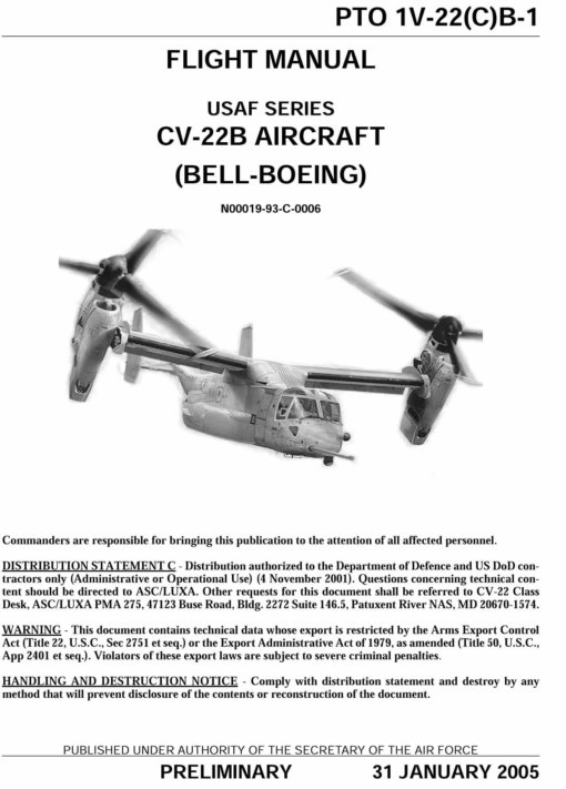 Flight Manual for the Bell Boeing V-22 Osprey
