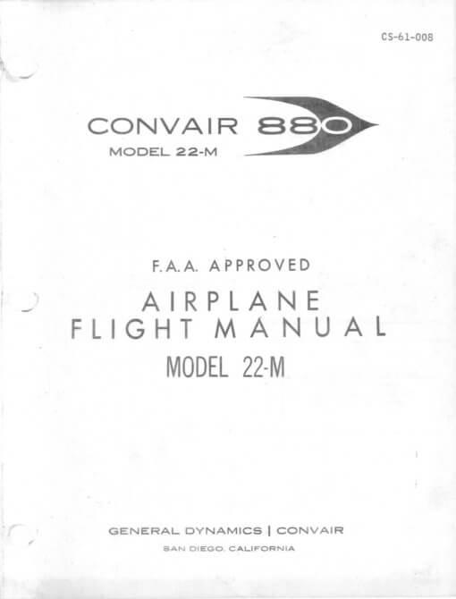 Flight Manual for the Convair CV880