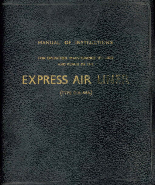 Flight Manual Pilots Notes for the De Havilland DH84 Dragon