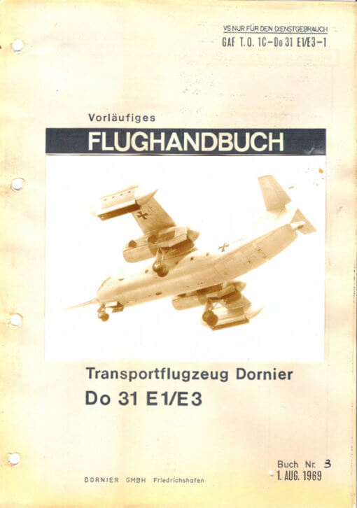 Flight Manual for the Dornier Do31