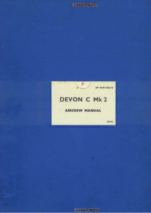 Flight Manual Pilots notes for the De Havilland DH104 Dove Devon